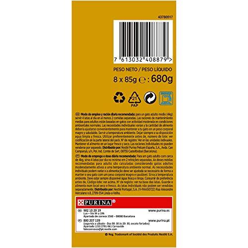 Purina Gourmet Gold Doble Placer Surtido comida para gatos 8 x 85 g: Amazon.es: Amazon Pantry