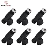 Jeep Cherokee Fuel Injector, YITAMOTOR 6PCS/Set Upgrade Fuel Injectors for 99-04 Grand Cherokee, and Wrangler 4L Fuel Injector 4 Hole Flow Matched with EV6 USCAR 0280155784
