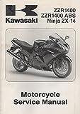 2008 KAWASAKI MOTORCYCLE NINJA ZX-14,ZZR1400 SERVICE MANUAL 99924-1389-01 (887)