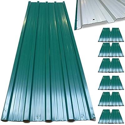 12x plaques tôles profilée / ondulée 129 x 45 cm =7m² bricolage toit cabane abri