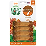 Nylabone Healthy Edibles Natural Dog Treats, Bacon, X-Small, 8 Count