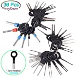 BingSnow 36Pcs Pins Terminals Removal Tools for Car Auto Wire Connector Terminal Pin Extractors Puller Remover Repair Key Tools Set Terminal: more info