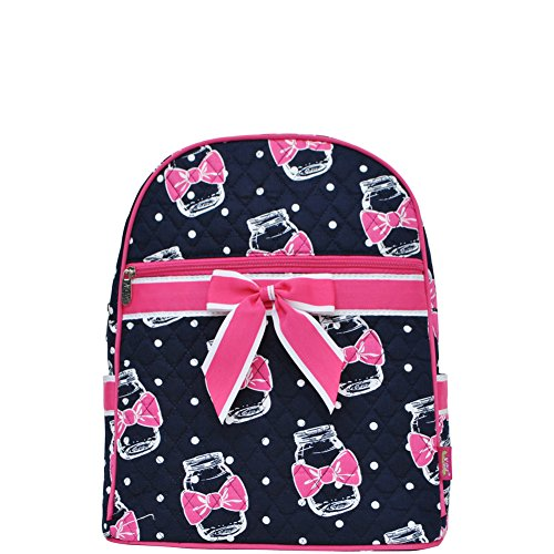 Price comparison product image Bow Tie Ribbon Mason Jar Print NGIL Quilted Backpack