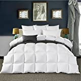 Elegant® King Size 100% Pure Canadian Goose Down Comforter Down Duvet Down Quilt for Winter use, 1800TC Egyptian Cotton Cover