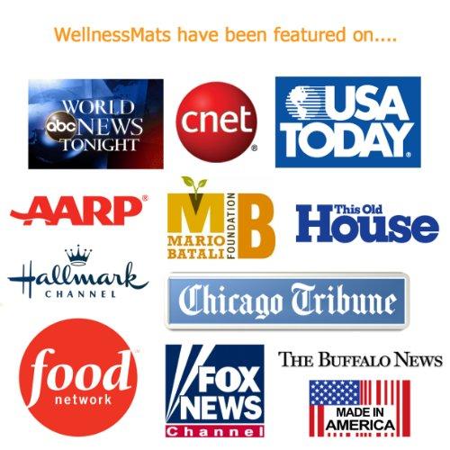 WellnessMats Anti-Fatigue Trellis Motif Kitchen Mat, 72 Inch by 24 Inch, Grey by WellnessMats (Image #3)