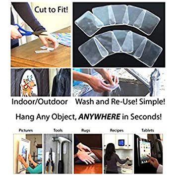 MAyouth Super Sticky Gripping Pad Clear Double-Sided Adhesive Washable for Home Kitchen Car