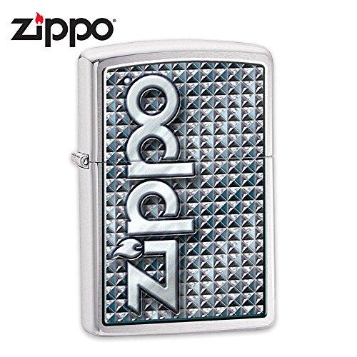 Chrome MARINES 3D Zippo Lighter w/USMC Emblem USA Made by Zippo
