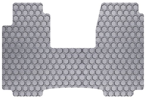 Intro-Tech Hexomat Front Row Custom Floor Mat for Select Ford Windstar Models - Rubber-like Compound (Gray)