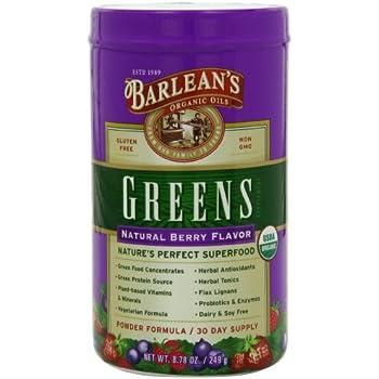 Barlean's Greens Natural Berry Flavor, 8.78-Ounce Bottle