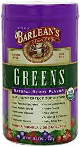Barlean's Greens Natural Berry Flavor, 8.78-Ounce Bottle
