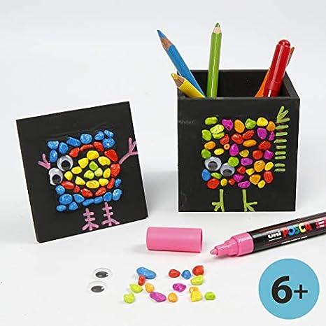 Pot /à crayons 10x10x10 cm la taille du trou 6,2x6,2 cm 1pi/èce paulownia dim