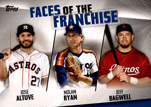 - 2019 Topps Faces of the Franchise Trios #FOF-12 Jeff Bagwell/Nolan Ryan/Jose Altuve Houston Astros Baseball Card