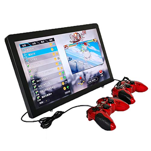 Arcade Console 3D Retro Classic Game Home Machine 18.5 Inch LCD Monitor DIY 1080P Classic Arcade Game Emulator Console 2199 in 1 Cabinet Pandora Box 9H Tablet PC All-in-One 1Up 2Up with USB Gamepad