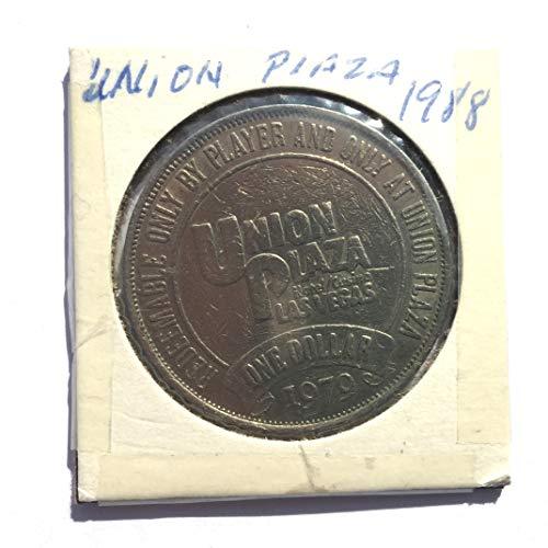 1979 Union Plaza Casino, Las Vegas, Nevada One Dollar Gaming Token (Obsolete Design) $1 Used