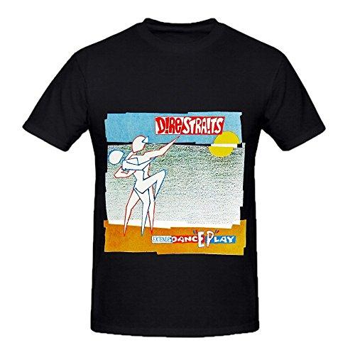 Dire Straits Extendedanceplay Tour Pop Mens Crew Neck Music Tee Shirts Black ()