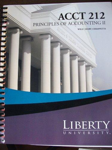 Fundamental Accounting Principles (Principles of Accounting 2 - Acct 212) (2nd half of Fundamental Accounting Principles