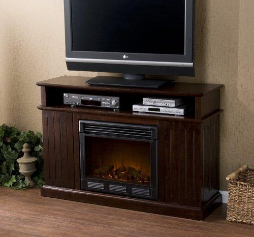 """Fenton Espresso Media Electric Fireplace (Espresso) (32.25""""H x 48""""W x 15""""D)"""