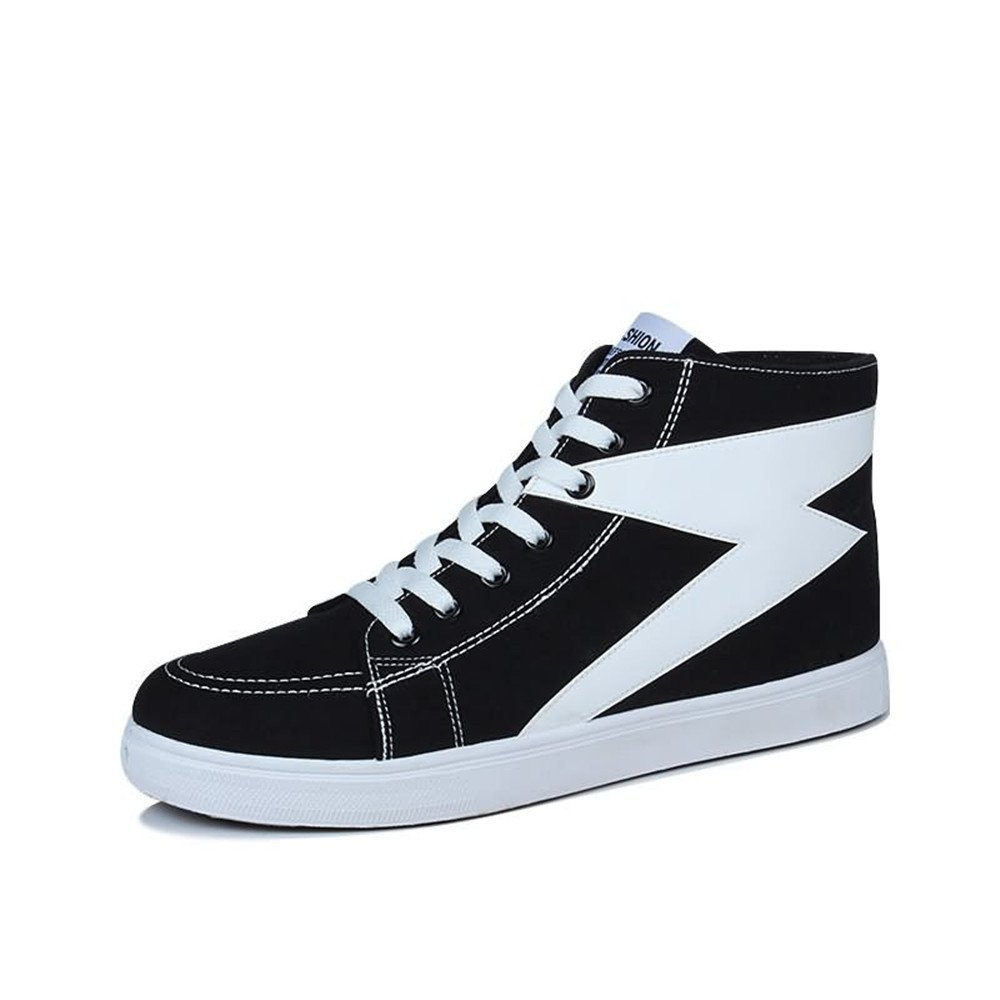 Las Zapatillas de Deporte de la Moda de los Hombres Son Casuales y de Alta Gama Top Color Bump Hop en Zapatillas de Deporte de Hip-Hop 42 EU|Black And White