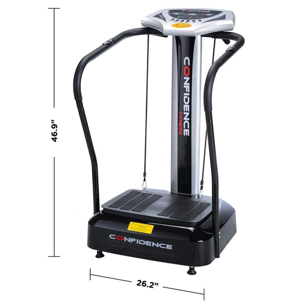 Confidence Fitness Slim Full Body Vibration Platform Fitness Machine, Black by Confidence (Image #6)