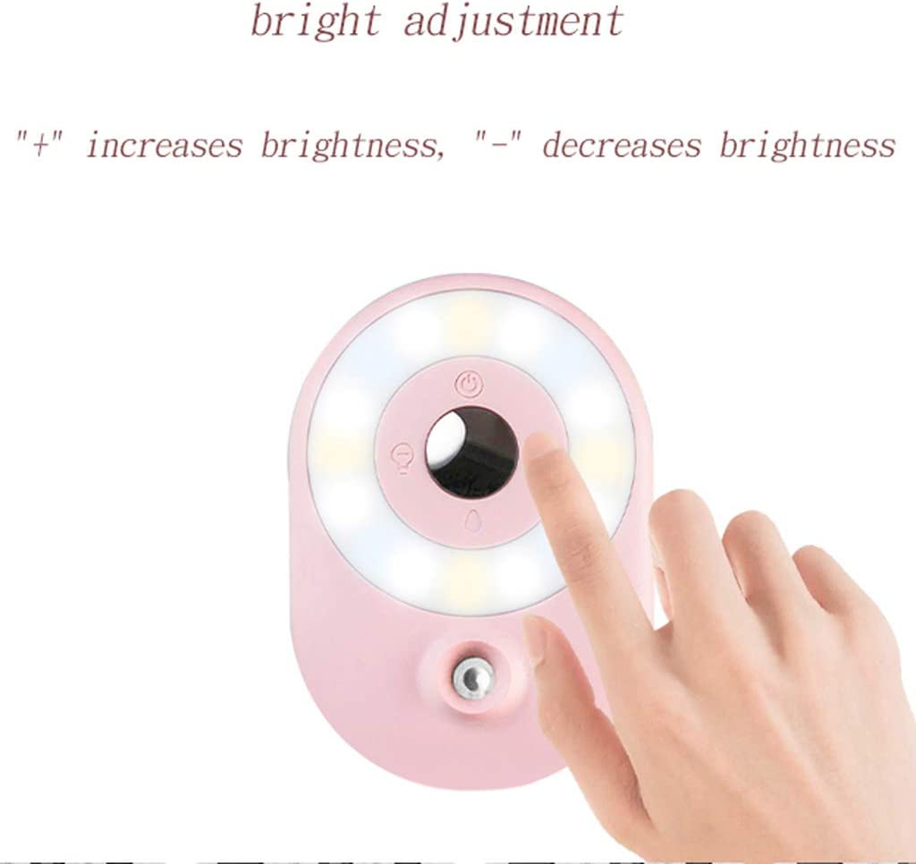 Skin Rejuvenation Wide-Angle Lens Fill light ZHAOSHUNLI Three-in-one Soft Light Ring Beauty Portable Moisturizing Beauty Instrument Color : Green Face-Lifting
