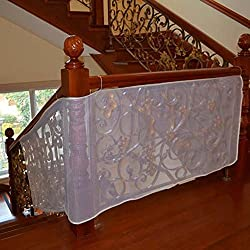 Joylish Baby Stair Railing Safety Net Balcony Guard for Toddler & Pet, Easy to Install