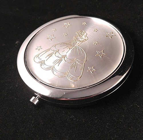 Quinceanera favors Sweet 16 Double Compact Mirror set of 12 Silver Gold Princess Recuerdos de quinceanra Espejos