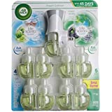 Airwick Life Scents Linen in the Air and Forest Waters, Includes Warmer Plus 9 Refills