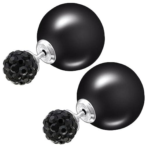 elegante nello stile Sneakers 2018 come ottenere So Chic Joyas - Orecchini con doppia sfera, perla e argento ...