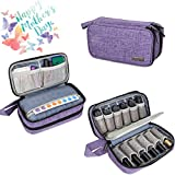 Luxja Essential Oil Carrying Case - Holds 12 Bottles (5ml-15ml, Also Fits for Roller Bottles),...