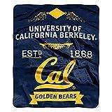 Cal Berkeley OFFICIAL Collegiate, Label 50 x 60 Raschel Throw