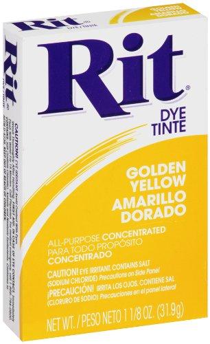 Rit All-Purpose Powder Dye, Golden Yellow Rit Dye 83420