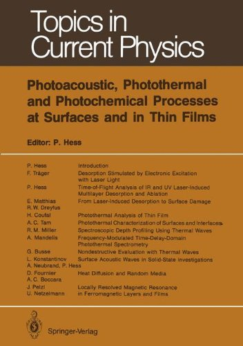 Photoacoustic, Photothermal and Photochemical Processes at Surfaces and in Thin Films (Topics in Current Physics) by Springer