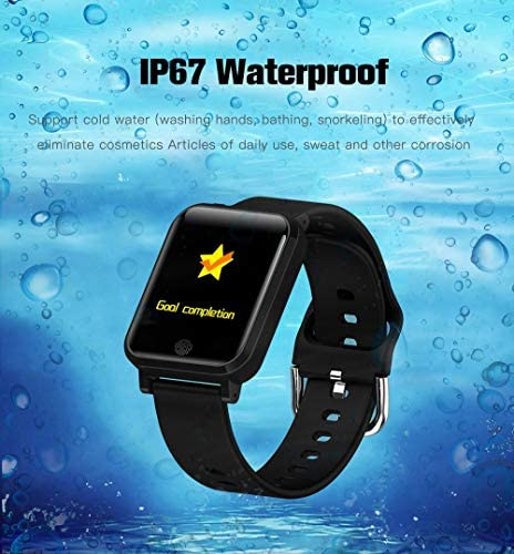 RRLOM Smart Watch Blood Pressure Monitor, Heart Monitor Smart Watch, Temperature Scanner, IP67 Waterproof, SpO2+ HR+ BP Monitor, Sports Fitness Tracker 51QbtwC8tdL