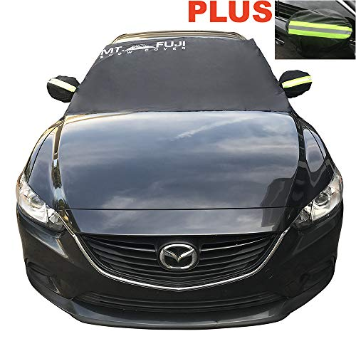 MT. FUJI Windshield Cover for Ice and Snow Windshield Snow Cover for Cars SUV Van Truck Minivans (93″X 43″) Plus a Set of Side Mirror Covers.