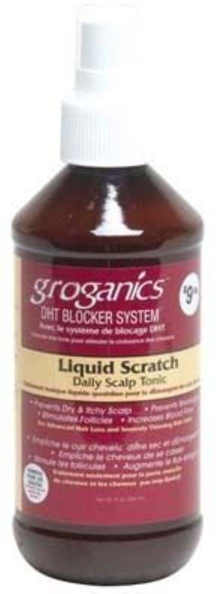 Groganics Liquid Scratch Daily Scalp Treatment, 8 oz (Pack of 2)