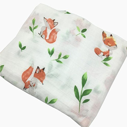 HGHG Baby Muslin Swaddle Blanket Your Receiving Blanket for Boys and Girls 47inches (Nice Squirrel)