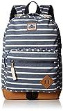 Steve Madden Men's Classic Backpack, Blue Stripe Jersey, One Size