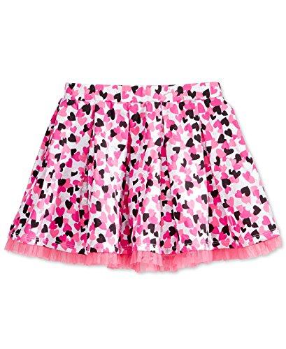 Epic Threads Mix & Match Tulle-Trim Heart-Print Skirt, Toddler & Little Girls (Black/Pink, 4T)