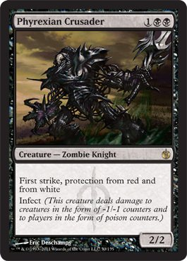 Magic: the Gathering - Phyrexian Crusader - Mirrodin Besieged