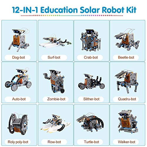 Innoo Tech Stem Robot Educational Toys for kids 8 9 10+ Years Old Solar Robot Science Kits, 12-in-1 STEM Solar Power Toys Kits DIY Science Coding Experiment Educational Building