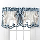 Kohls Kitchen Window Curtains Danbury Embroidered Window Treatments By GoodGram - Assorted Colors And Sizes (Blue, Single Valance)