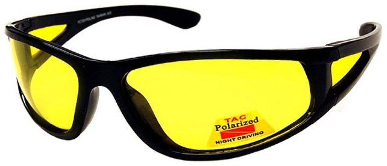 I-Sential Polarisierte Nachtsichtbrille Autofahren Matt Scharwz, Gelben Glä ser Nachtsicht Brille Sonnenbrille + Fall und Tuch