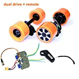 L-faster Electronic Longboard Hub Motor Kit Skateboard Brushless Motor Wheel With Truck Electric Board Dual Motor Drive Remote Controller (Dual drive remote)