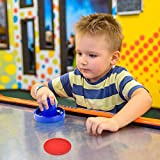 Coopay Air Hockey Pushers and Red Air Hockey Pucks, Goal Handles Paddles Replacement Accessories for Game Tables