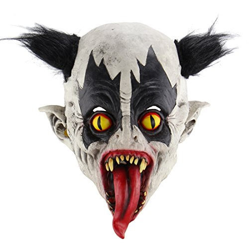 Halloween Horrific Demon Adult Scary Clown Masks Cosplay Props(Bat Clown -
