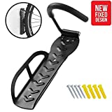 Little World Bike Hook Indoor Shed Bike Holder Garage Heavy Duty Space Saver Bicycle Wall Mount Hanger Universal Stand Vertical Single Cycle Storage Rack System Holds up to 66 lb with Screws, Black