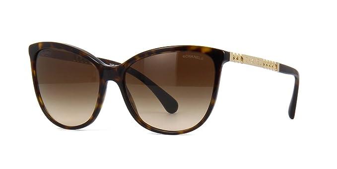 Chanel CH5352 DARK HAVANA (C714S5) - Gafas de sol: Amazon.es ...
