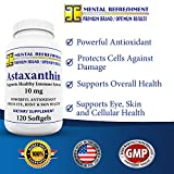 Mental Refreshment Premium Astaxanthin 10mg 120 Softgels - Potent Antioxidant - Supports Eye Skin and Joint Health Discount