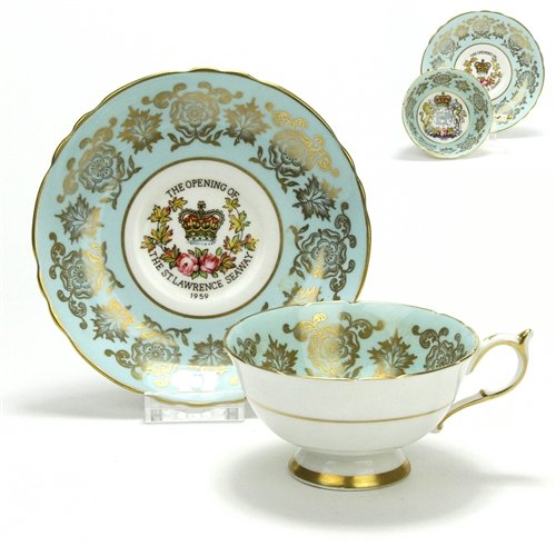 (Cup & Saucer by Paragon, China, The St. Lawrence Seaway )