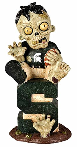 FOCO Michigan State Sitting On Logo Zombie With Football
